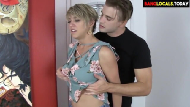 Mature woman fucked by young boy KeezMovies blowjob